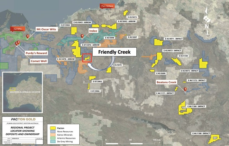 Figure 1: Pacton Regional Project Location Plan (CNW Group/Pacton Gold Inc.)