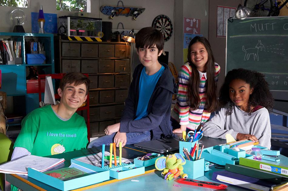 Alec Dahmer, Ricardo Ortiz, Mya Singh and Arista Arhin star in Greenfields. (CNW Group/DHX Television)