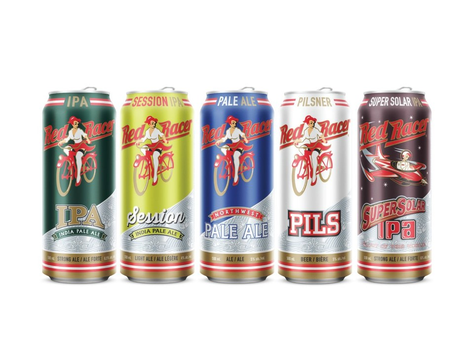 Central City Brewers + Distillers Upsizes Red Racer Beer Line-up to 500 ml cans (CNW Group/Central City Brewers + Distillers Ltd.)