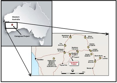 Figure 1: Canegrass Project Location Map (CNW Group/Bluebird Battery Metals)