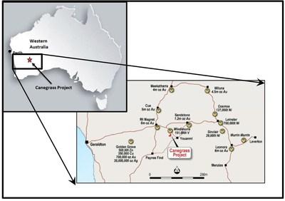 Figure 1: Canegrass Project Location Map (CNW Group/Bluebird Battery Metals)