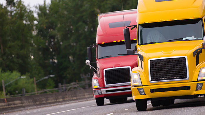 Truck and trailer demand on cruise control