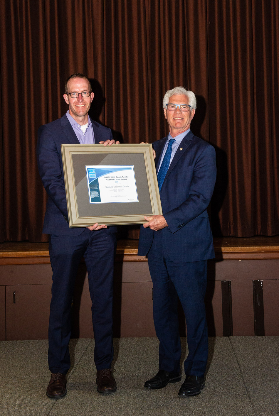 Samsung Canada named 2018 Appliance and Consumer Electronics Manufacturer of the Year by ENERGY STAR® Canada (CNW Group/Samsung Electronics Canada)