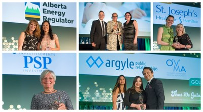 WInners of the 2018 Awards of Excellence (CNW Group/Canadian Public Relations Society)