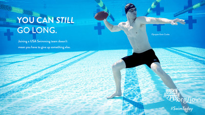 Olympian Kevin Cordes features in USA Swimming's new SwimToday membership campaign.