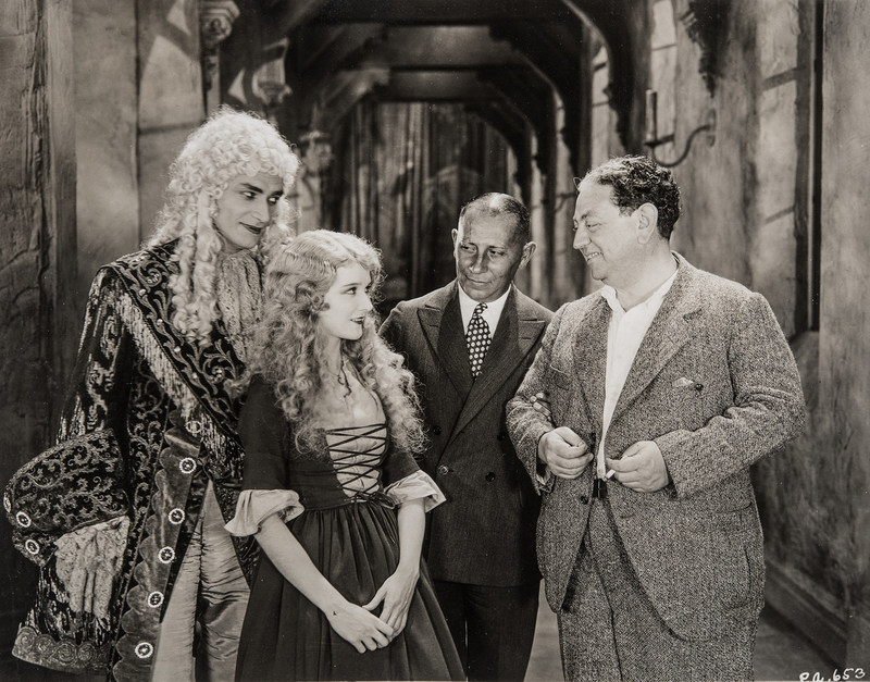 Universal Pictures' newly restored film The Man Who Laughs (1928). L to R: Conrad Veidt, Mary Philbin, Erich Von Stroheim, and Paul Leni (director)