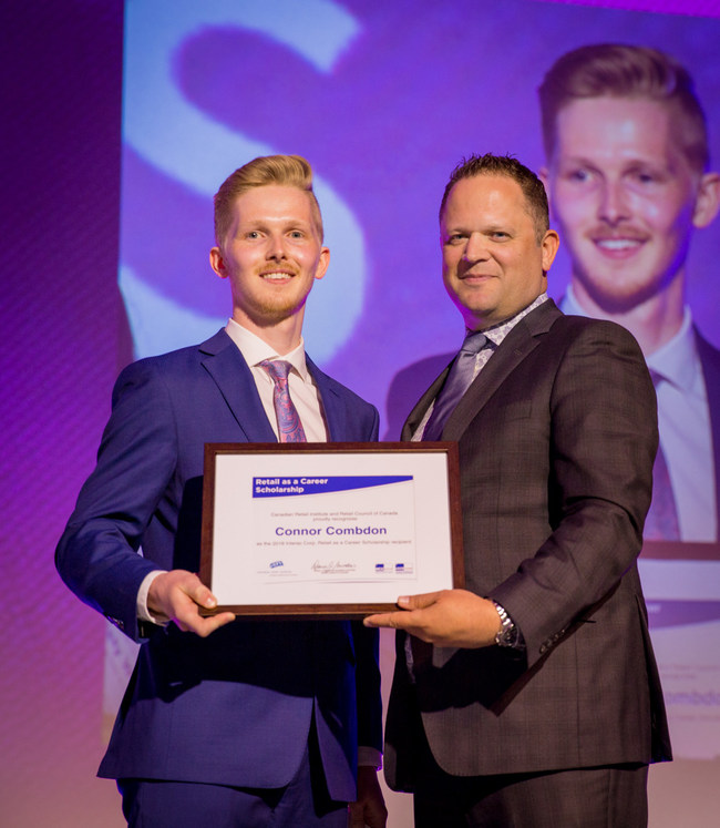 Conner Combdon, Winner of the Interac Association Scholarship (CNW Group/Retail Council of Canada)