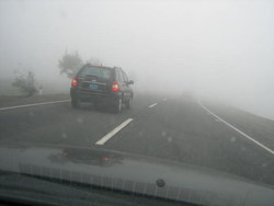 Driving during foggy weather!