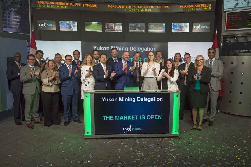 Yukon Mining Delegation Opens the Market (CNW Group/TMX Group Limited)