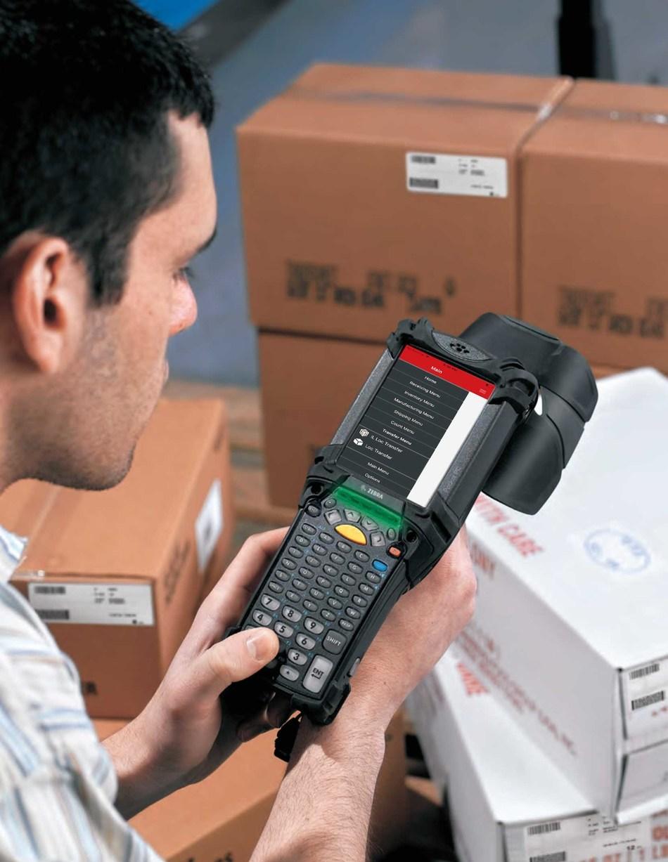 Radley's mobile UI on rugged mobile computer