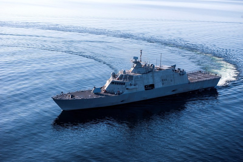 LCS 11 (Sioux City) completed Acceptance Trials in Lake Michigan.