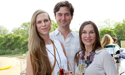 Kriste Marciulionis, Michael Sareyani and Antionette Sareyani attend DuJour's Annual Memorial Day Kick-Off Party to toast summer cover star Dakota Fanning.