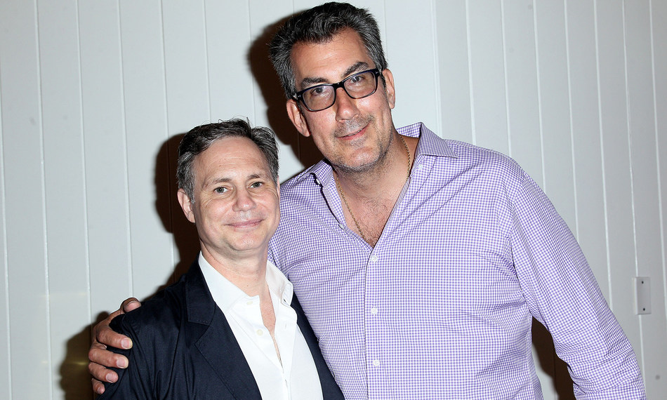 Jason Binn and George Filopoulos attend DuJour's Annual Memorial Day Kick-Off Party to toast summer cover star Dakota Fanning.