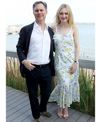 Dakota Fanning and Jason Binn attend DuJour's Annual Memorial Day Kick-Off Party to toast summer cover star Dakota Fanning
