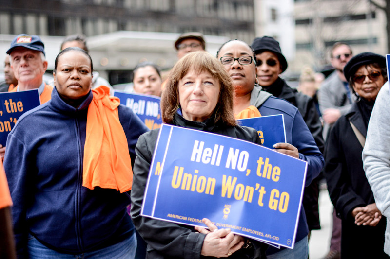 The nation's largest federal employee union, the American Federation of Government Employees, sued the Trump administration Wednesday in response to an executive order President Trump issued last week that aims to deny workers their legal right to representation at the worksite.