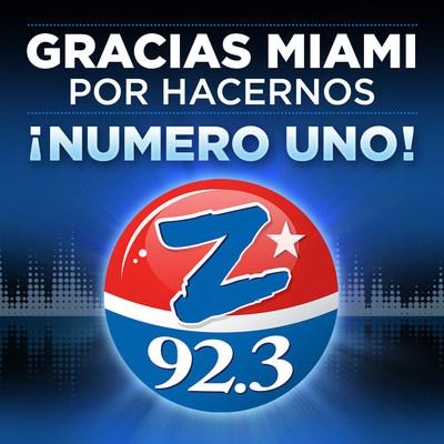 Las estaciones de radio de Spanish Broadcasting System ocupan los lugares 1 y 2 entre las estaciones en español en el mercado de Miami-Ft. Lauderdale, Hollywood (PRNewsfoto/Spanish Broadcasting System, In)