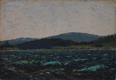 Tom Thomson's Sketch for Lake in Algonquin Park sold at the Heffel auction for $481,250 after being rediscovered in an Alberta basement. (CNW Group/Heffel Fine Art Auction House)