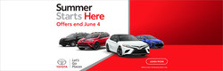 Bob Tyler Toyota hosts the Toyota Summer Starts Here Sales Event.