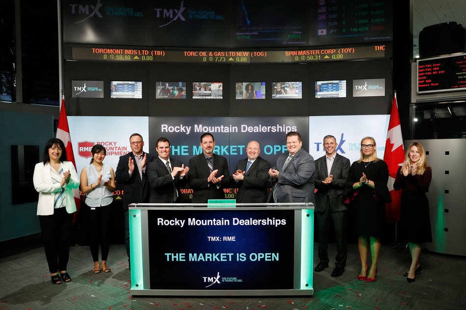 Rocky Mountain Dealerships Inc. Opens the Market (CNW Group/TMX Group Limited)