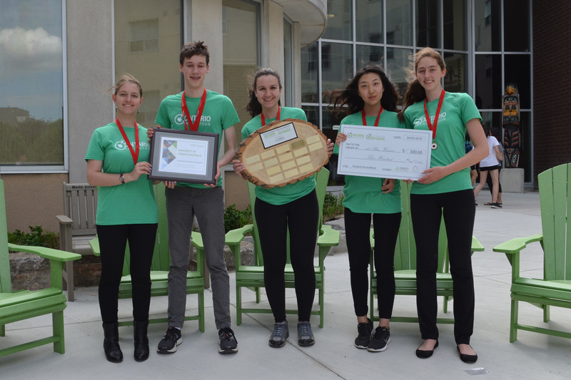 University of Toronto Schools took home first place at the 2018 Ontario Envirothon. (CNW Group/Forests Ontario)