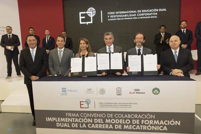 Inicia el 1er Foro Internacional de Educación Dual y Responsabilidad Corporativa en Audi México (PRNewsfoto/Audi Mexico)