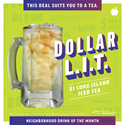 Applebee's® $1 Long Island Iced Tea – the DOLLAR L.I.T. – Returns to Kick Off Summer