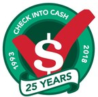 Check Into Cash Announces 25th Anniversary