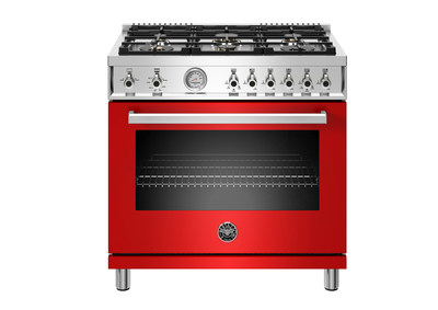 Bertazzoni's new Professional Series All-Gas Range in glossy Red.