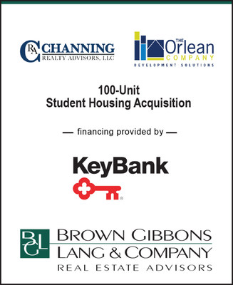 BGLREA is pleased to announce the financial closing for the acquisition of a 100-unit student housing development. The project capitalization included a senior acquisition loan provided from Key Bank, preferred equity, common equity and sponsor equity.  BGLREA served as the exclusive financial advisor to Channing and Orlean in the transaction to assist with the structuring and raising of the preferred, common and sponsor equity tranches.