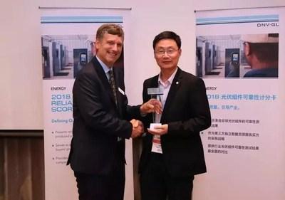 GCL-SI recibe el premio que otorga DNV GL (PRNewsfoto/GCL System)