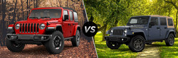 The Jeep Wrangler JK and Jeep Wrangler JL are available now at Palmen Motors.