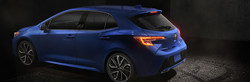 The new 2019 Toyota Corolla Hatchback is highlighted on Allan Nott Toyota's website.