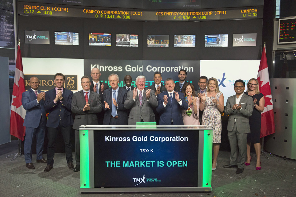 Kinross Gold Corporation Opens the Market (CNW Group/TMX Group Limited)