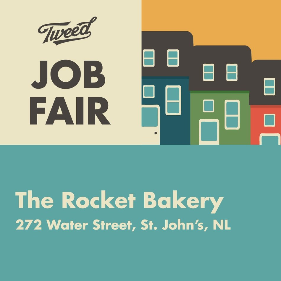 Media Advisory - Tweed is having a job fair and you're invited (CNW Group/Canopy Growth Corporation)