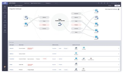 This screenshot shows how Pega's Integration Designer enables Pega software users to connect their Pega apps to other services, systems, and data sources with a simple drag-and-drop interface.