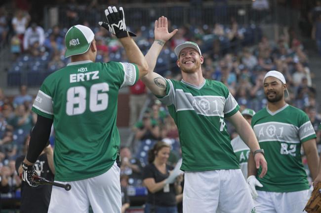 More than $850,000 Raised at Inaugural Carson Wentz AO1 Foundation Charity Softball Game. Photo credit: J. Alan Paul