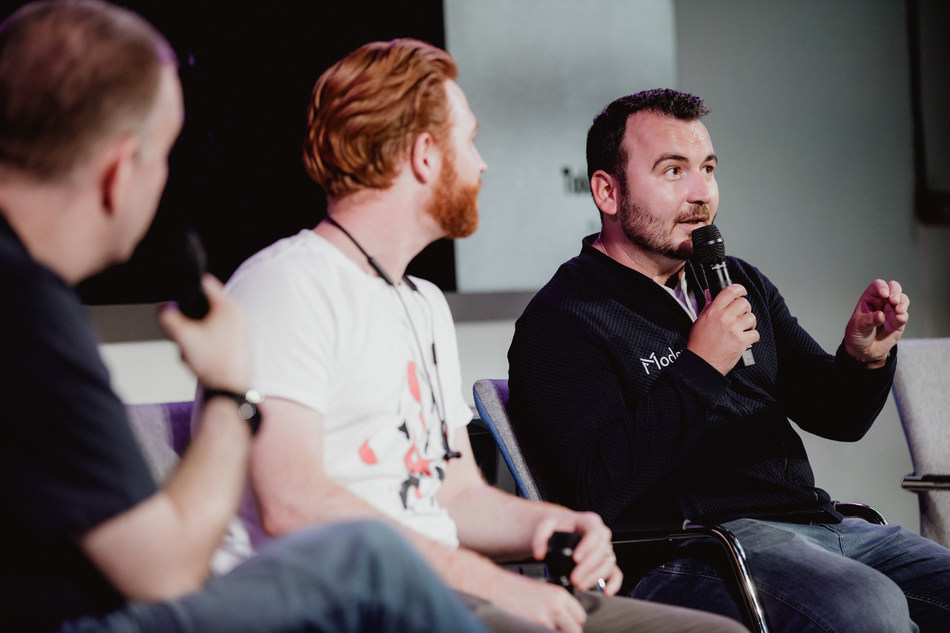 Mihai Ivascu at TokenBlast Panel (PRNewsfoto/Modex)