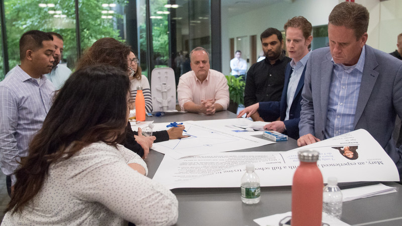 """""""Can you hack it? – A corporate Hackathon helps employees get in the mind of the real estate agents that Realogy serves and spark innovative ways to meet their needs. The event also brought groups together to share experiences in an engaging way."""""""