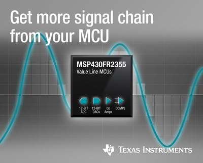 New MSP430™ MCUs bring configurable signal-chain elements and extended operating temperature range for sensing applications