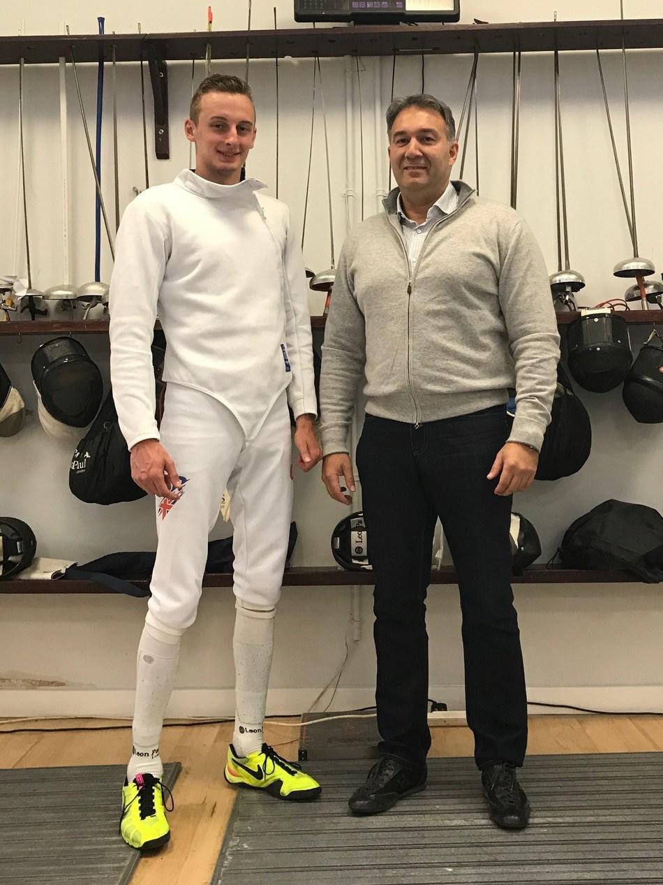 Harrison Nichols and Dmitry Leus (PRNewsfoto/British Fencing)