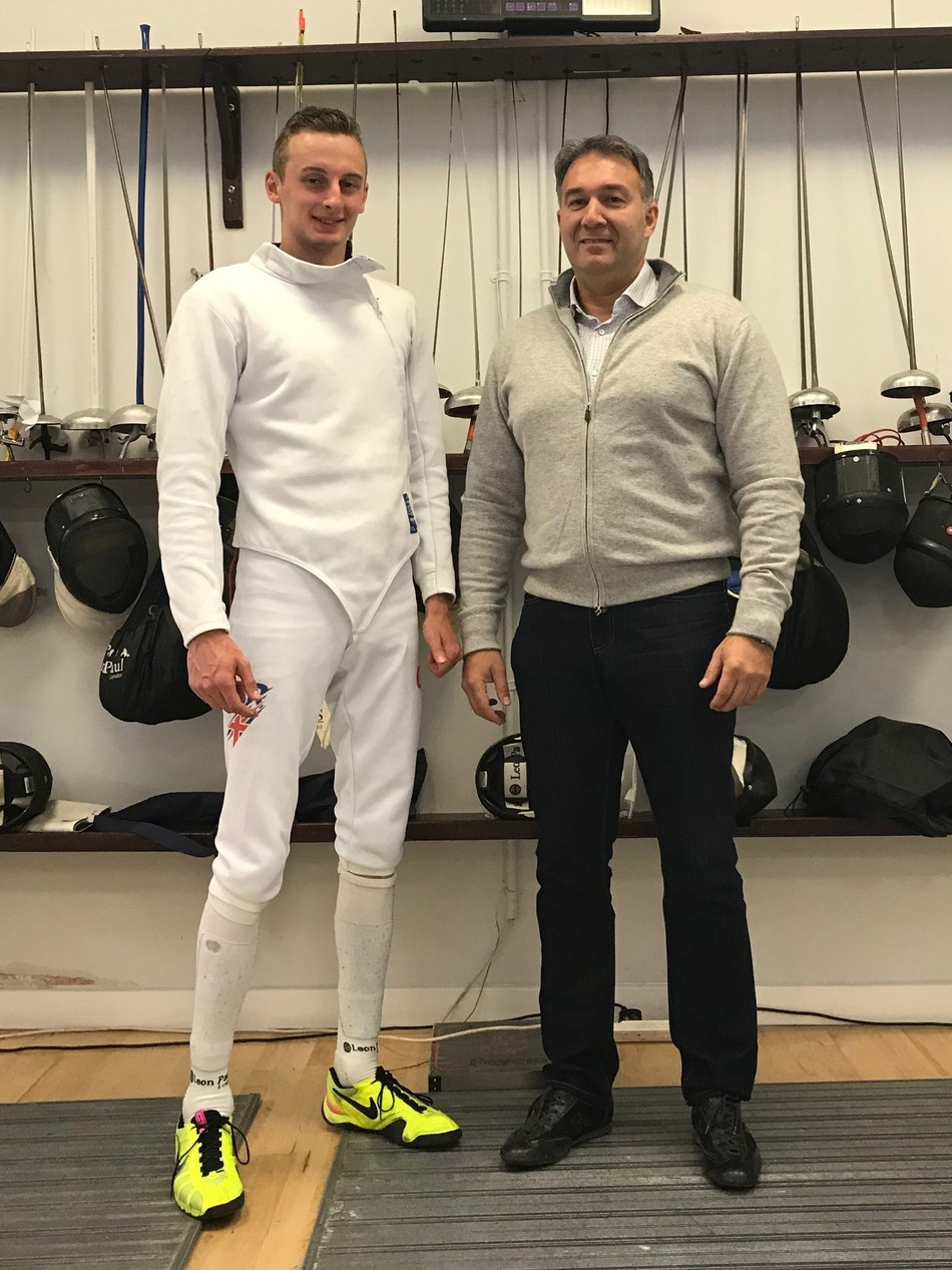 Harrison Nichols and Dmitry Leus (PRNewsfoto/British Fencing)
