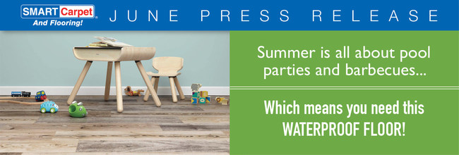 Summer is all about pool parties and barbecues, which means you need this waterproof floor!