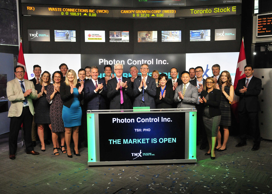 Photon Control Inc. Opens the Market (CNW Group/TMX Group Limited)