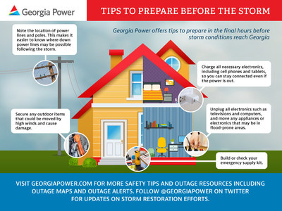 At www.georgiapower.com/storm, customers can sign up for Outage Alerts, report and check the status of outages, and access useful safety tips and information.