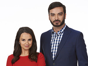 Emma Hunter and Miguel Rivas, co-anchors of the satirical news show The Beaverton, will perform at the Canadian Journalism Foundation Awards in Toronto on June 14. (CNW Group/Canadian Journalism Foundation)
