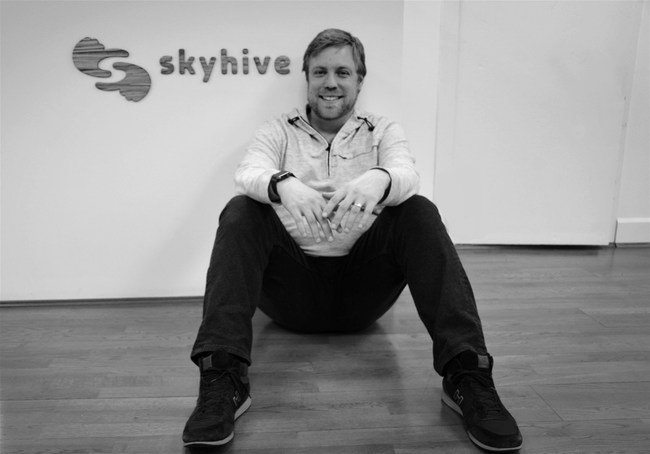 SkyHive Founder and CEO Sean Hinton at SkyHive's Vancouver HQ