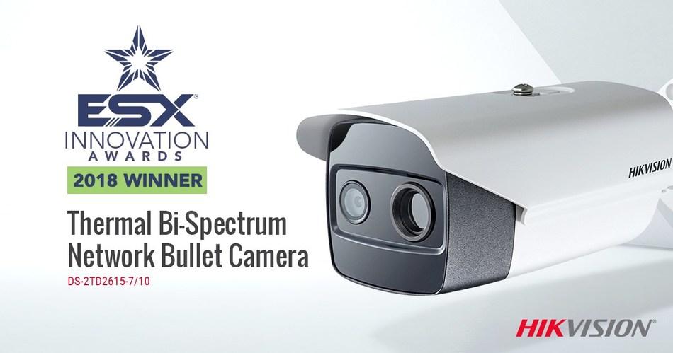 Hikvision's Thermal Bi-Spectrum IP camera won the 2018 ESX Innovation Award for video surveillance