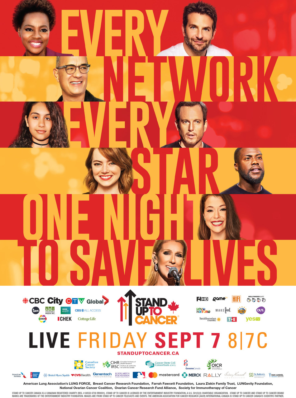 Every network. Every star. One night to save lives. Live Friday, Sept. 7, 8|7C (CNW Group/Stand Up To Cancer)