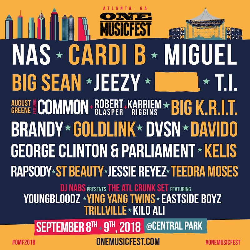 2018 ONE Musicfest Lineup