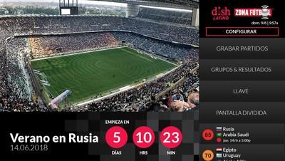 Con Zona Fútbol, los aficionados podrán encontrar, ver y grabar partidos fácilmente. (PRNewsfoto/DISH Network Corporation)